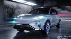全球首款整舱交互5G量产车荣威MARVEL-R是荣威R标首款量产